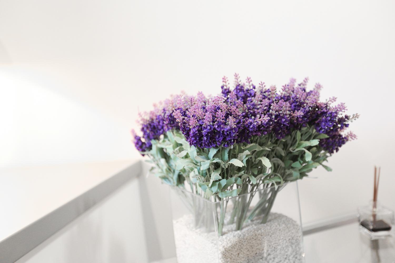 Hotel Executive Inn bellissimi fiori viola per gli interni